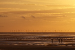 Offshore wind power is a relatively untapped source of clean and renewable energy. (Photograph ©2007 by MrPhilDog.)